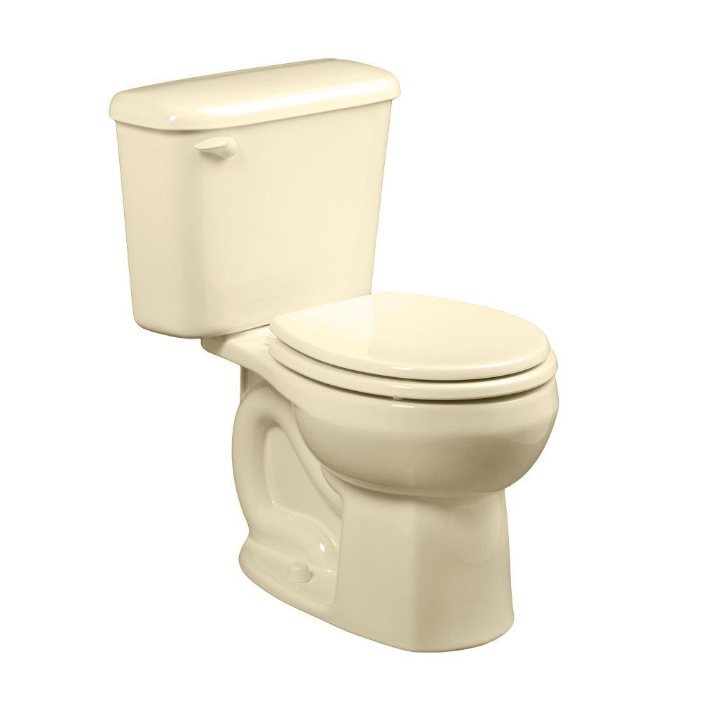10 Inch Rough In Toilet Canada American Standard Colony 10 In Rough In 2 Piece 1 6 Gpf Single Flush Round Toilet In White Seat Not Included