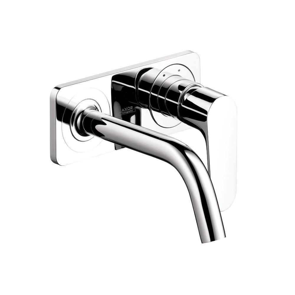 Hansgrohe Citterio M Hansgrohe Citterio M Wall Mount 1 Handle Single Hole Bathroom Faucet In Chrome With Baseplate