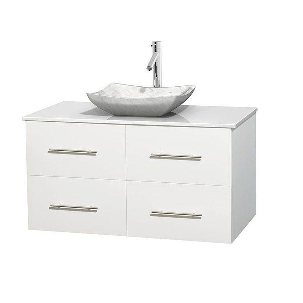 Wyndham Collection Centra 42 In Vanity In White With