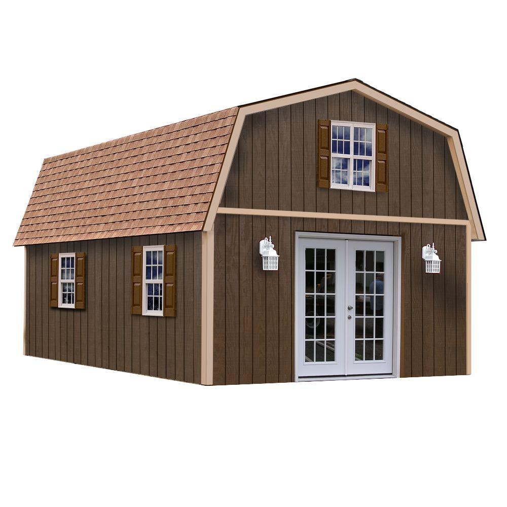 Home Depot Sheds For Sale Best Barns Richmond 16 Ft X 32 Ft Wood Storage Building