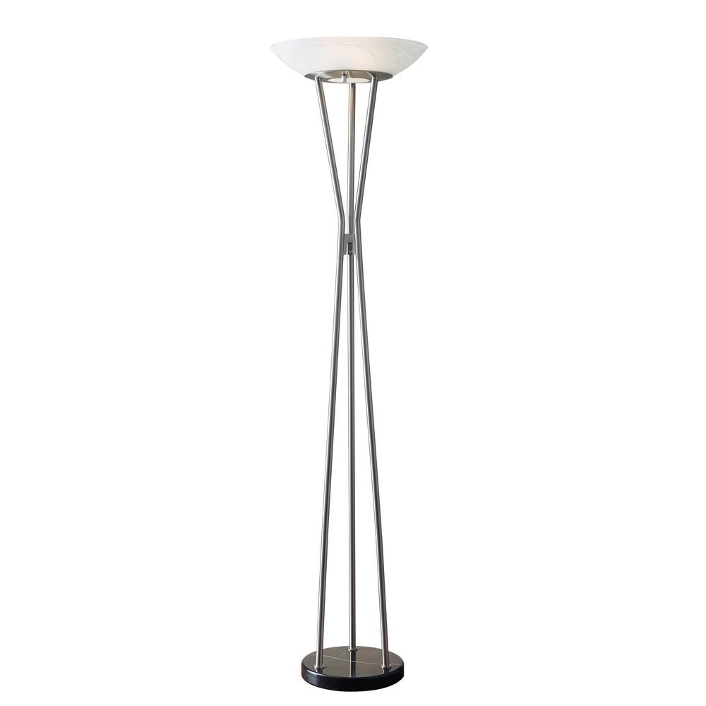 Pedestal Floor Lamps 72 In Silver Gemma Floor Lamp