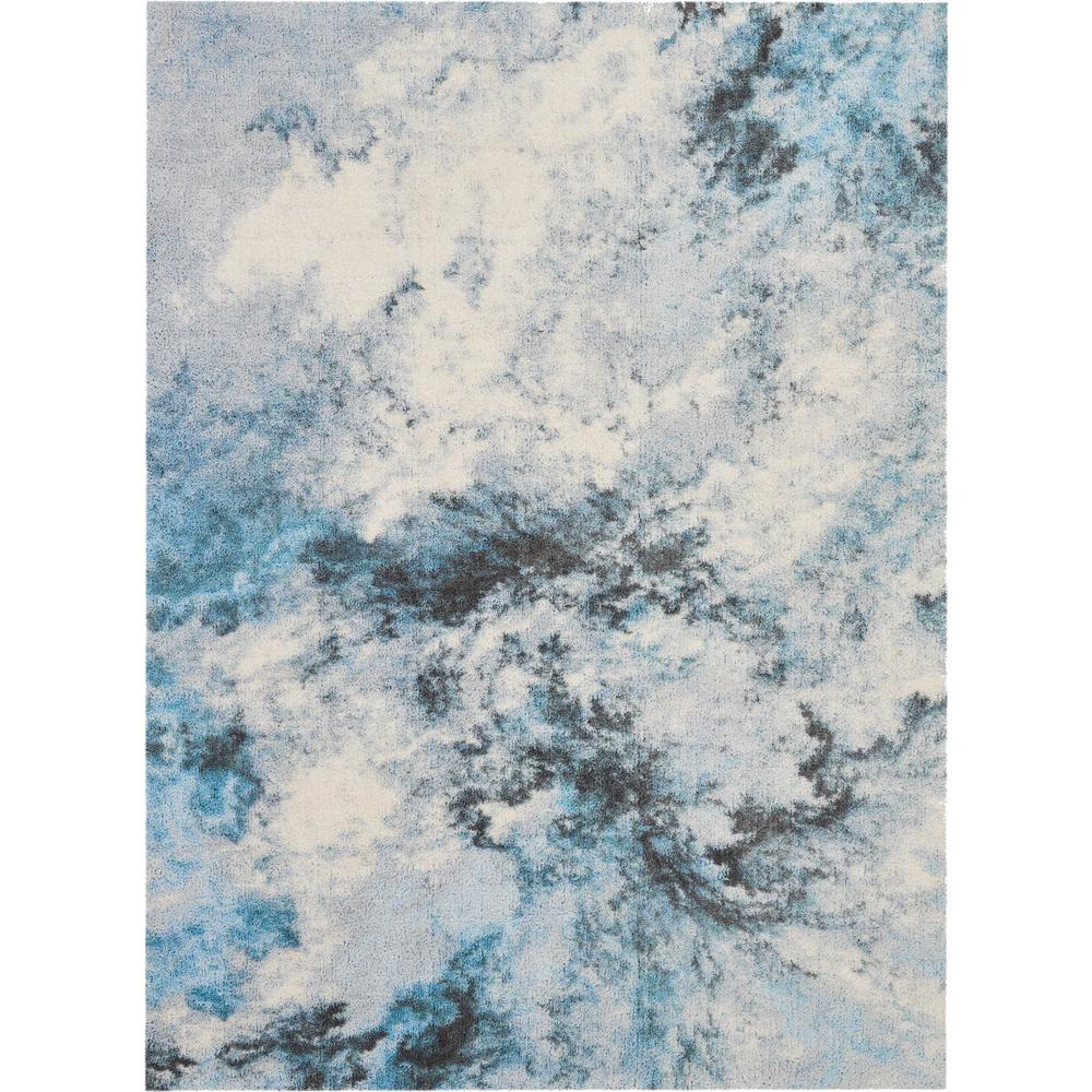 Blue Shag Rug Nourison Abstract Shag 5 X 7 Blue And White Colorful Area Rug