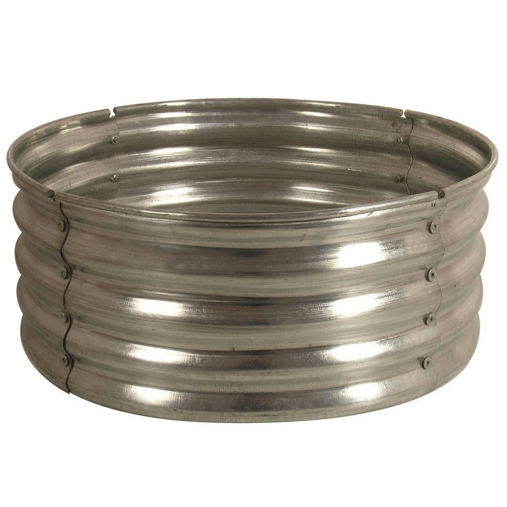 Home Depot Fire Pit 30 In Round Galvanized Steel Fire Pit Ring