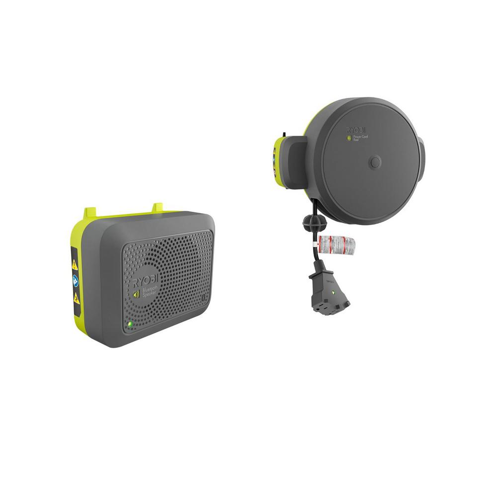 Ryobi Garage Door Fan Ryobi Garage Retractable Cord Reel And Bluetooth Wireless Speaker Accessories
