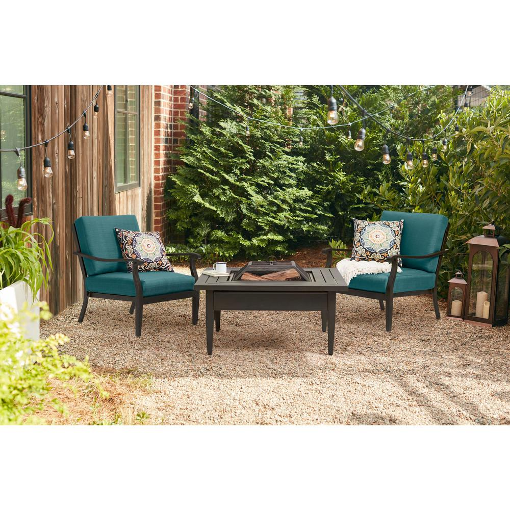 Outdoor Lounge Hampton Bay Riley Stationary Outdoor Lounge Chair With Charleston Cushions 2 Pack