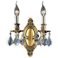 Worldwide Lighting Windsor Collection 2-Light Antique ...