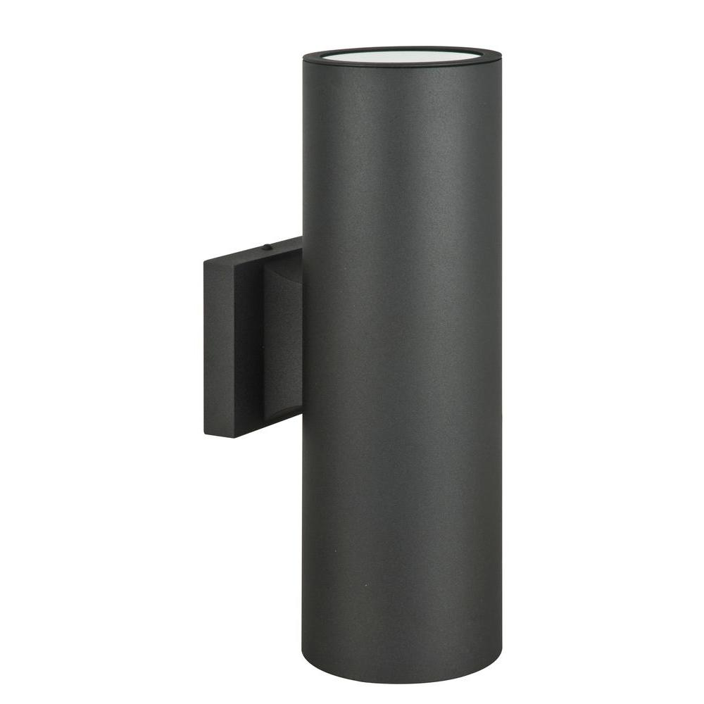 Lighting Wall Lights Luminance Architectural Exterior 2 Light Black Wall Sconce