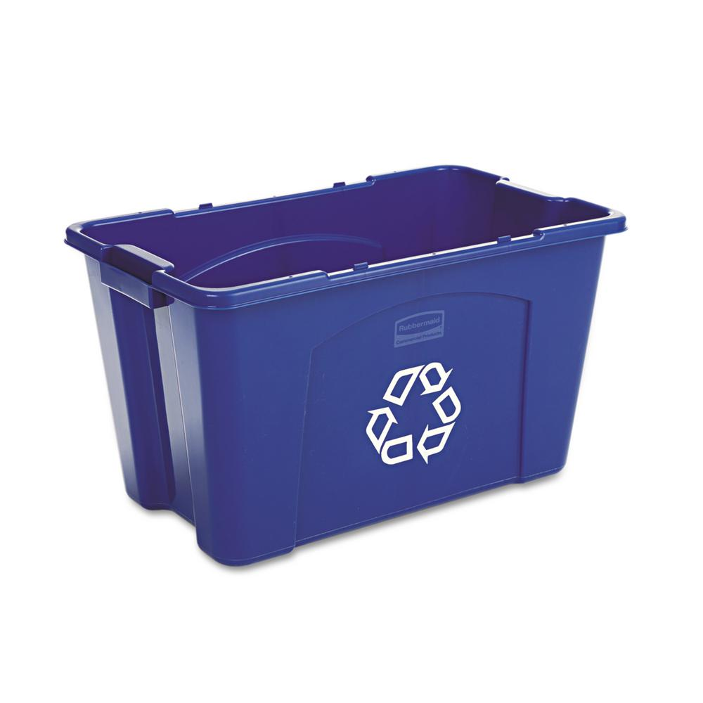 Rectangular Bin Details About Recycling Bin Stackable Rectangular Withstand Harsh Weather Conditions 18 Gal