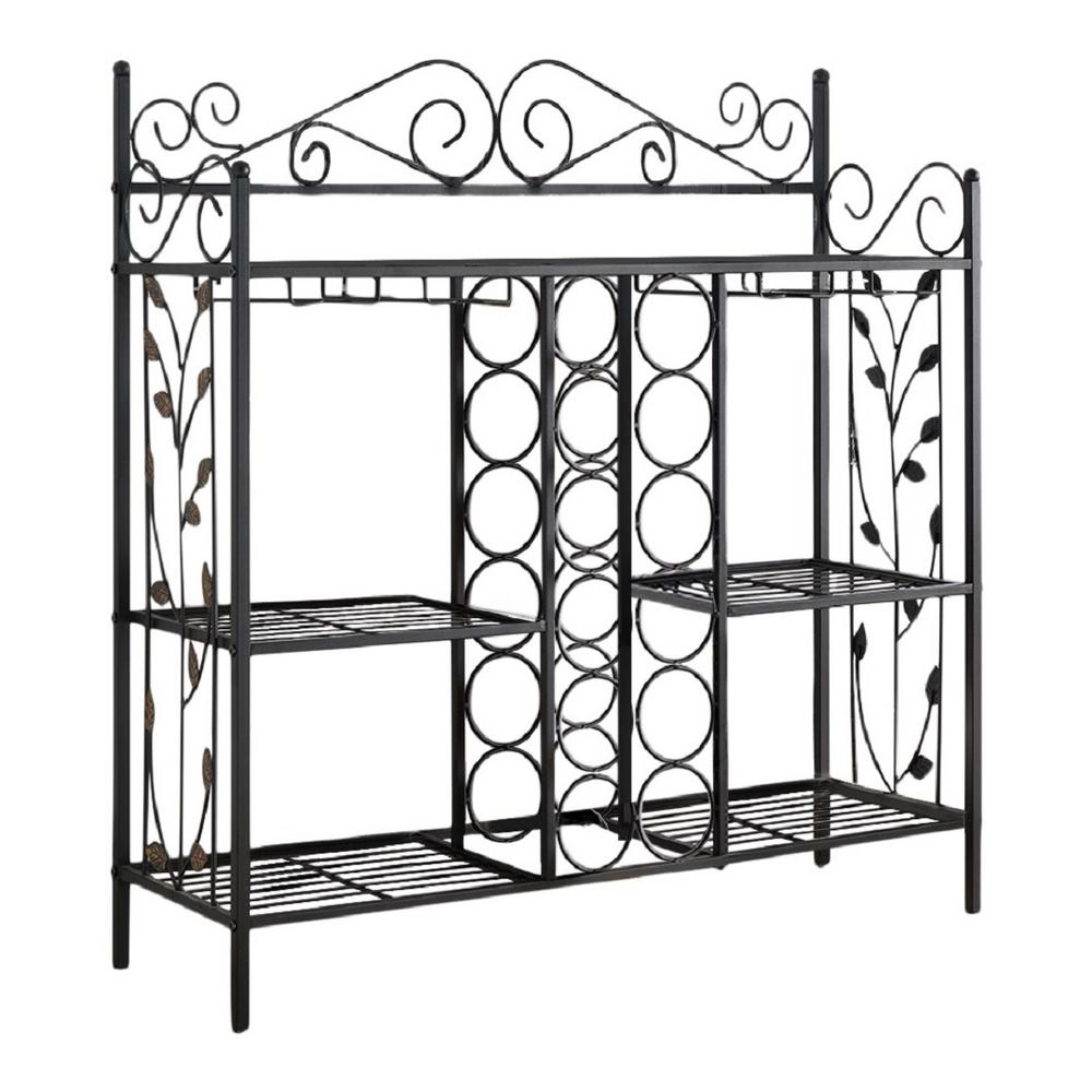Metal Wine Racks Kings Brand Furniture 12 Bottle Black Metal Console Table Wine