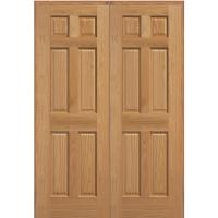 MMI Door 61.5 in. x 81.75 in. Unfinished Red Oak 6-Panel ...