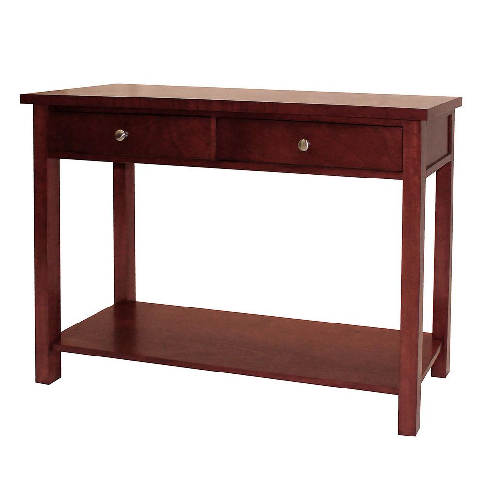 Cherry Sofa Table With Storage Console Table Black Sofa