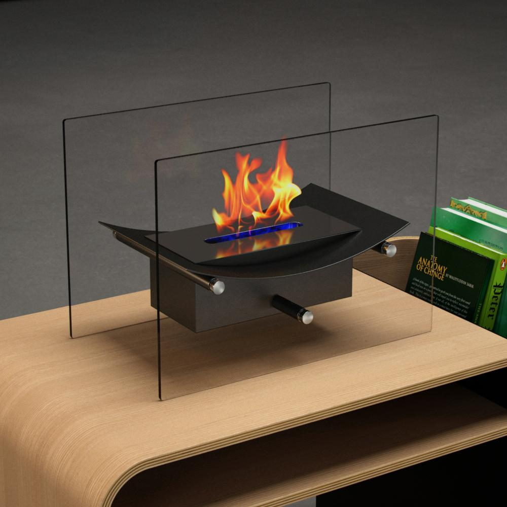 Moda Flame Cavo 14 In Vent Free Ethanol Fireplace In