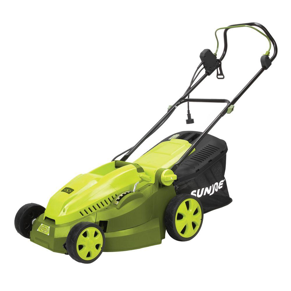 Electric Lawn Mower Sale Mow Joe 16 In 12 Amp Corded Electric Walk Behind Push Mower With Mulcher