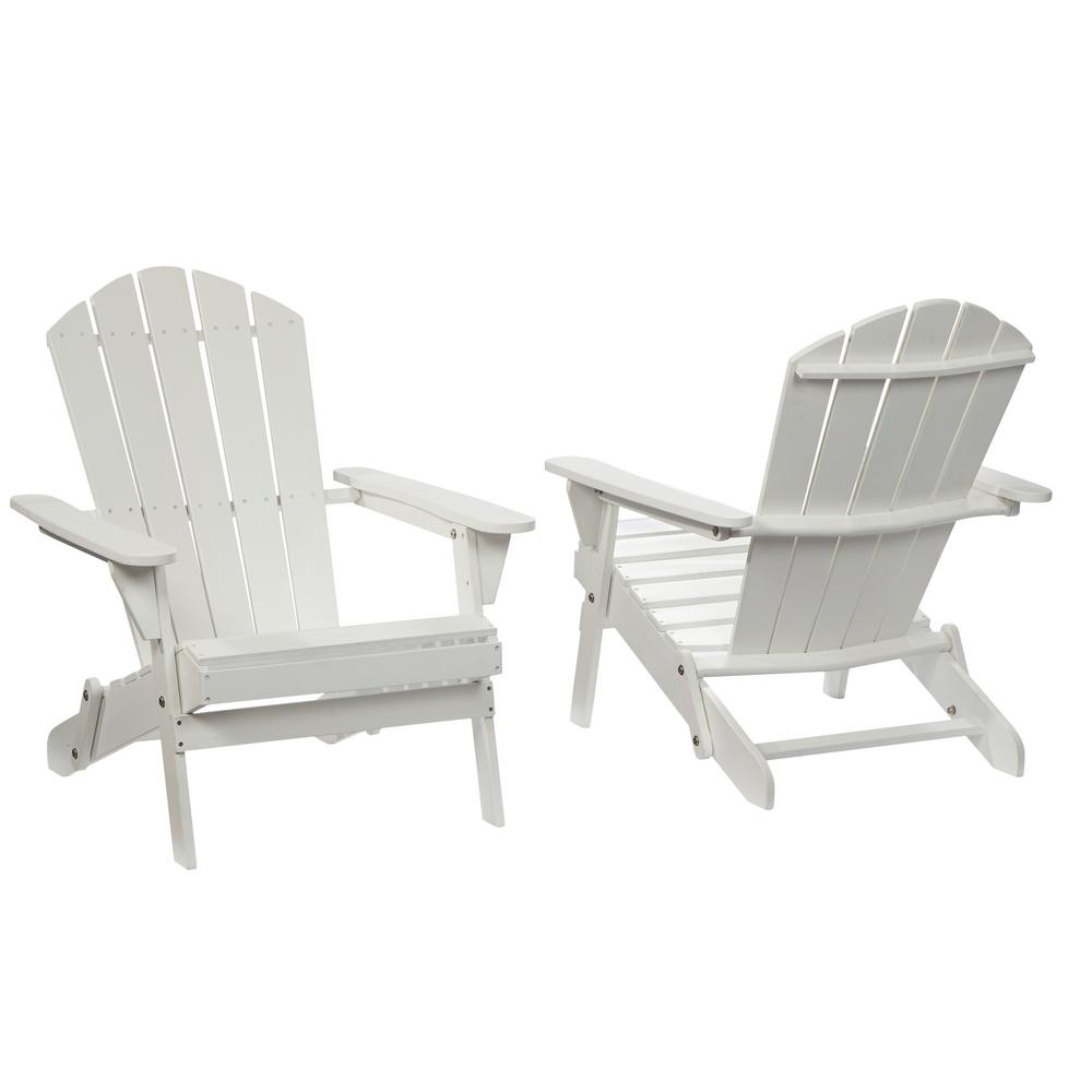 Adirondack Sessel Hampton Bay Lattice Folding White Outdoor Adirondack Chair 2 Pack