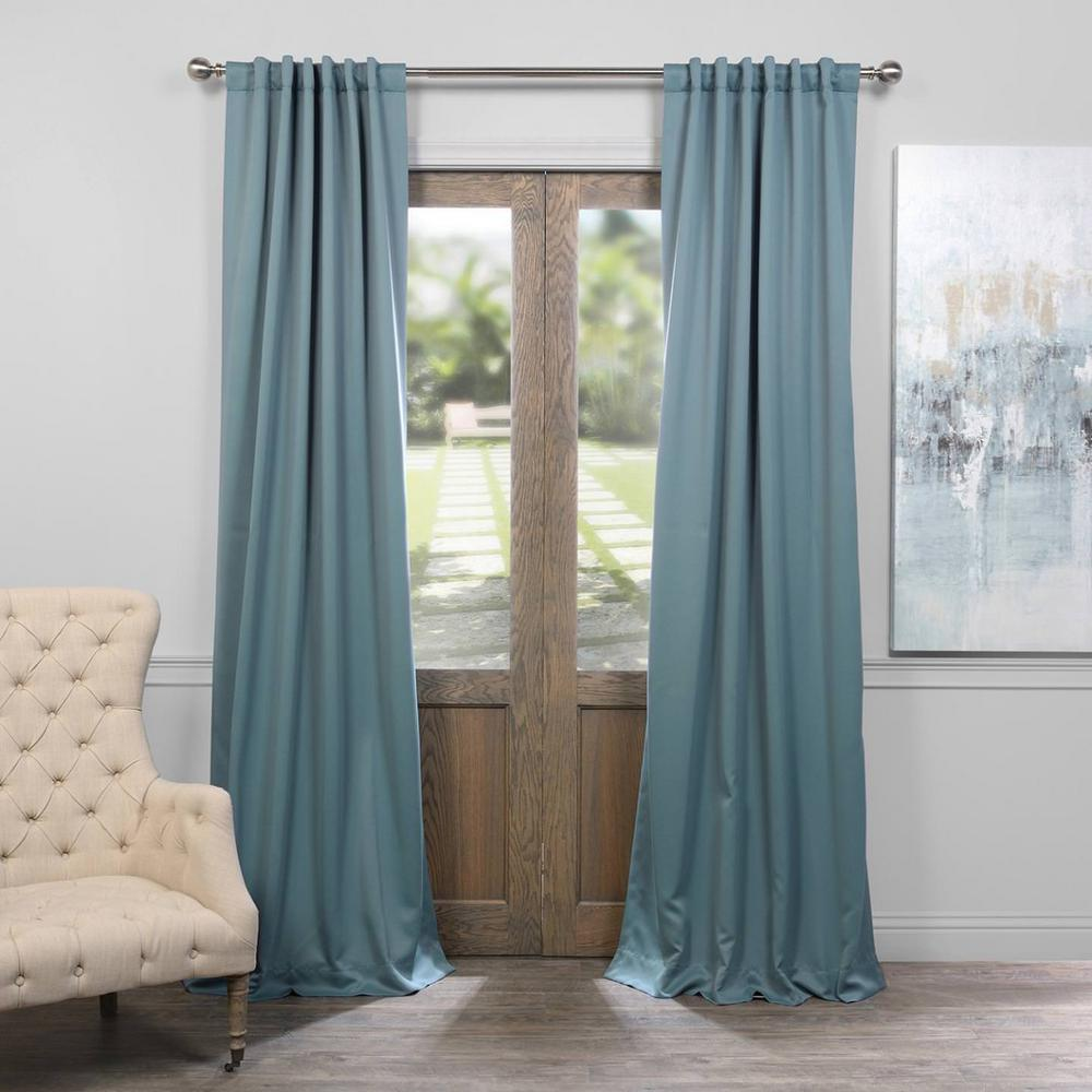 Curtain Insulation Fabric Exclusive Fabrics Furnishings Semi Opaque Dragonfly Teal Blackout Curtain 50 In W X 96 In L Panel