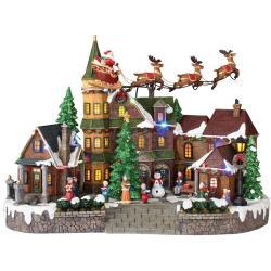 Swish Santa Sleigh Home Accents Holiday Animated Musical Led Village Village Sets Uk Village Sets Australia Animated Musical Led Village