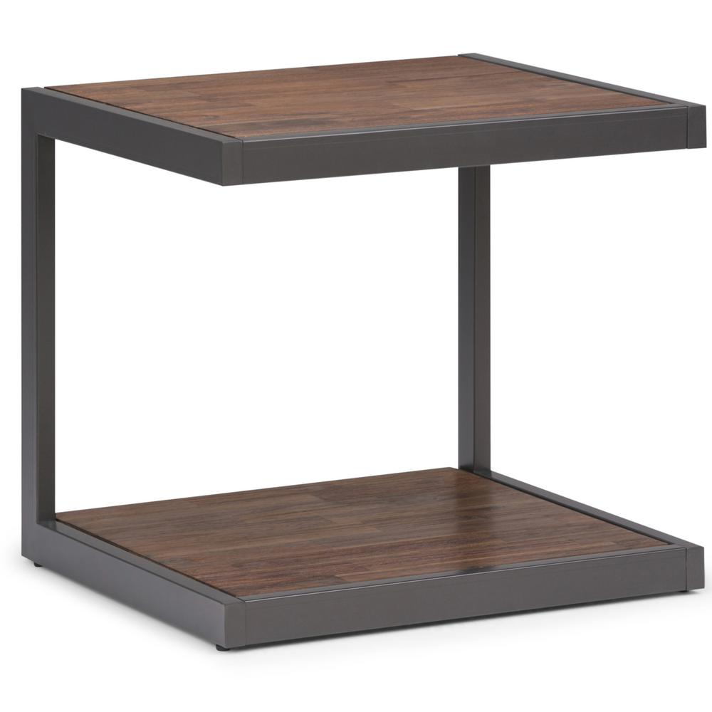 Simpli Home Erina Rustic Natural Aged Brown End Table
