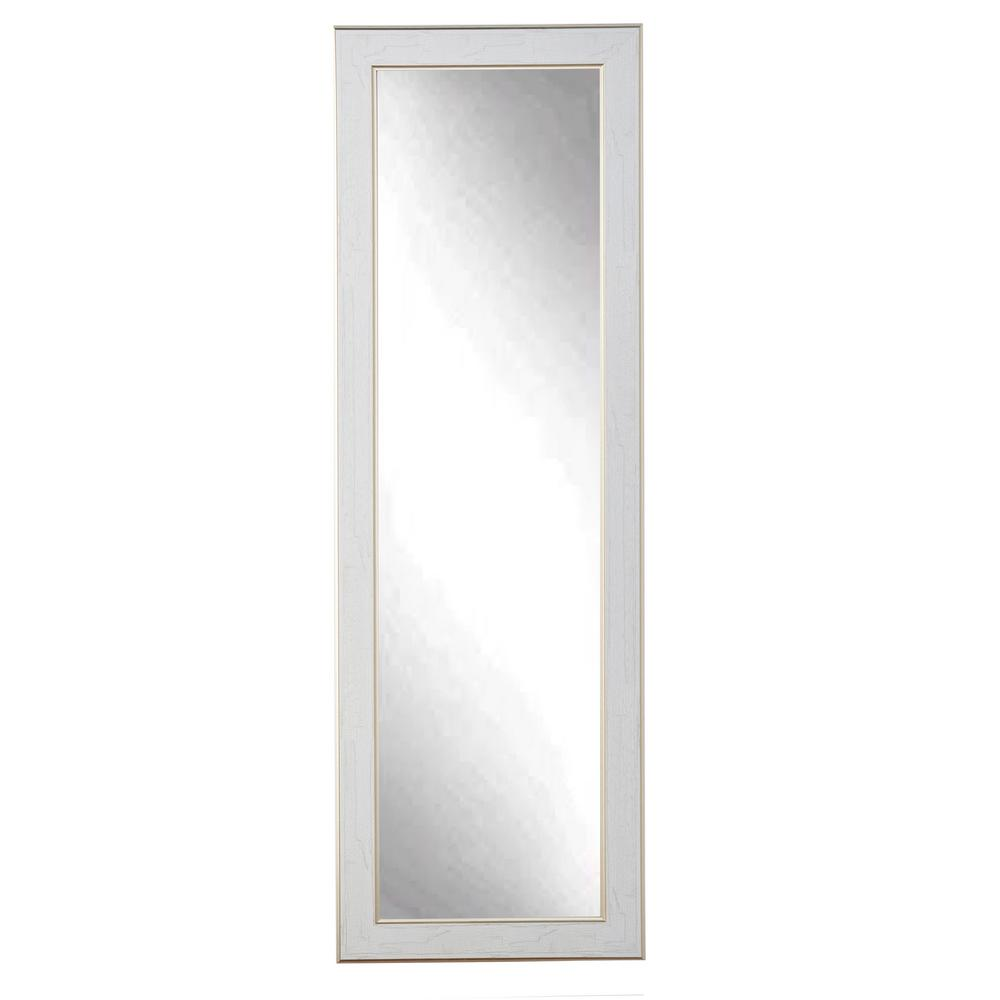White Floor Mirror Gold Trimmed Legacy Slim Floor Mirror
