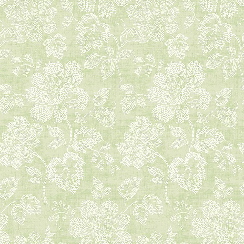 Tivoli Track Lighting A-street Tivoli Sage Floral Wallpaper-2702-22734 - The
