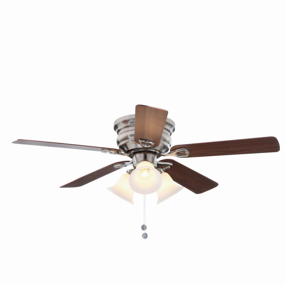 Best Ceiling Fans For Small Rooms Clarkston 44 In Indoor Brushed Nickel Ceiling Fan With Light Kit