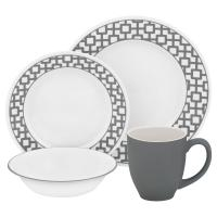 Corelle Classic 24-Piece Winter Frost White Dinnerware Set ...