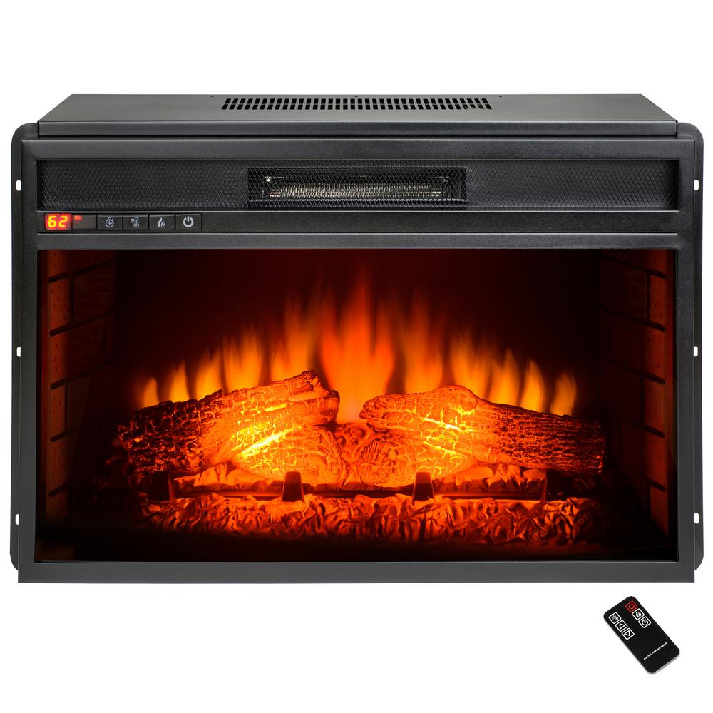18 Fireplace Insert Akdy 26 In Freestanding Electric Fireplace Insert Heater In Black With Tempered Glass And Remote Control