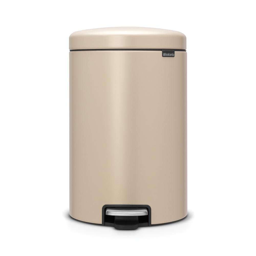 Brabantia Contact Brabantia 5 3 Gal Steel Step On Trash Can In Mineral Gold