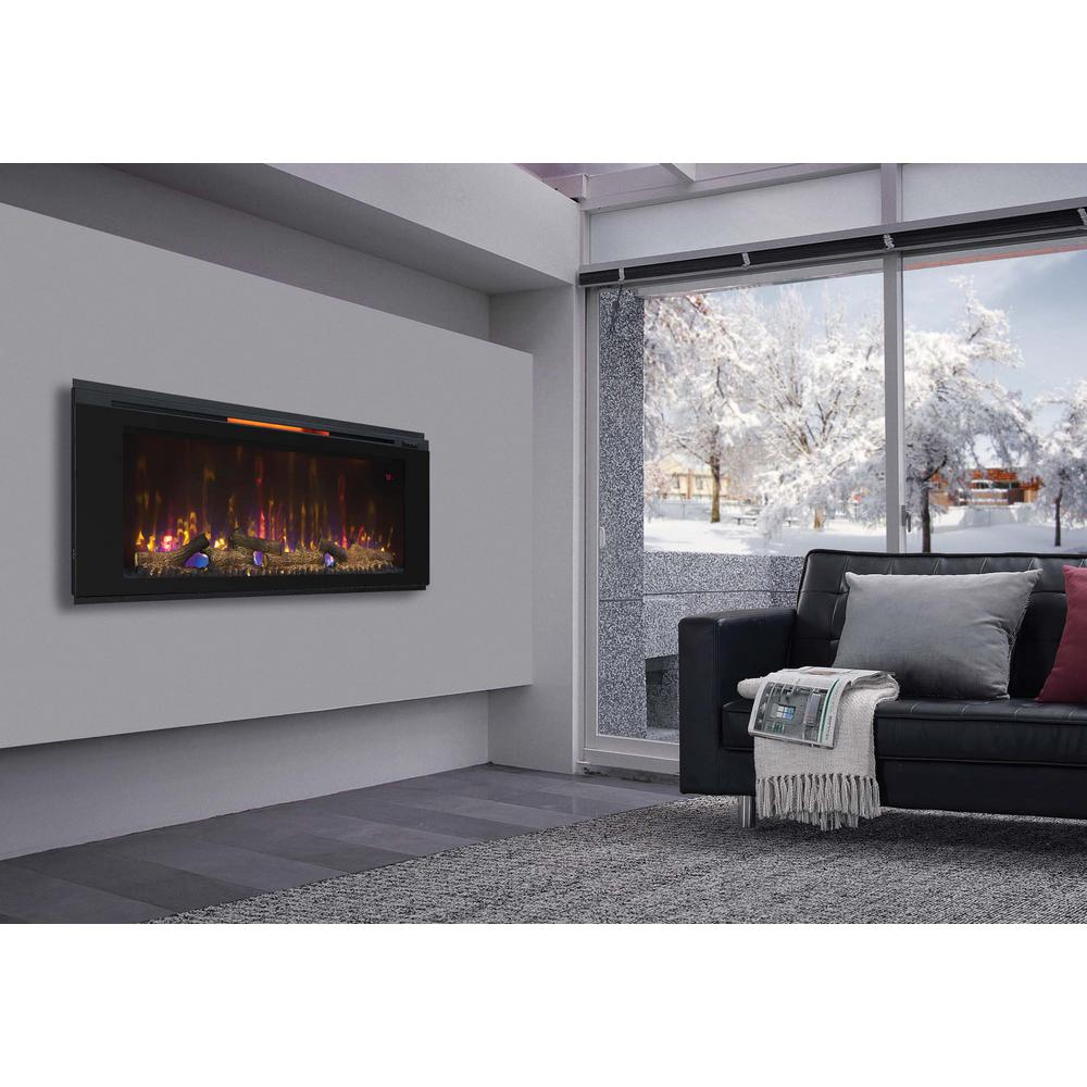 Electric Fireplace Built Into Wall Classic Flame Helen 48 In Wall Mount Electric Fireplace In Black