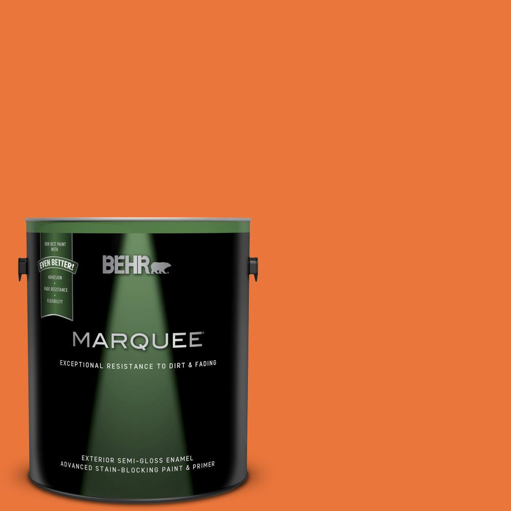 Orange Exterior Paint Behr Marquee 1 Gal Home Decorators Collection Hdc Md 27 Tart Orange Semi Gloss Enamel Exterior Paint Primer