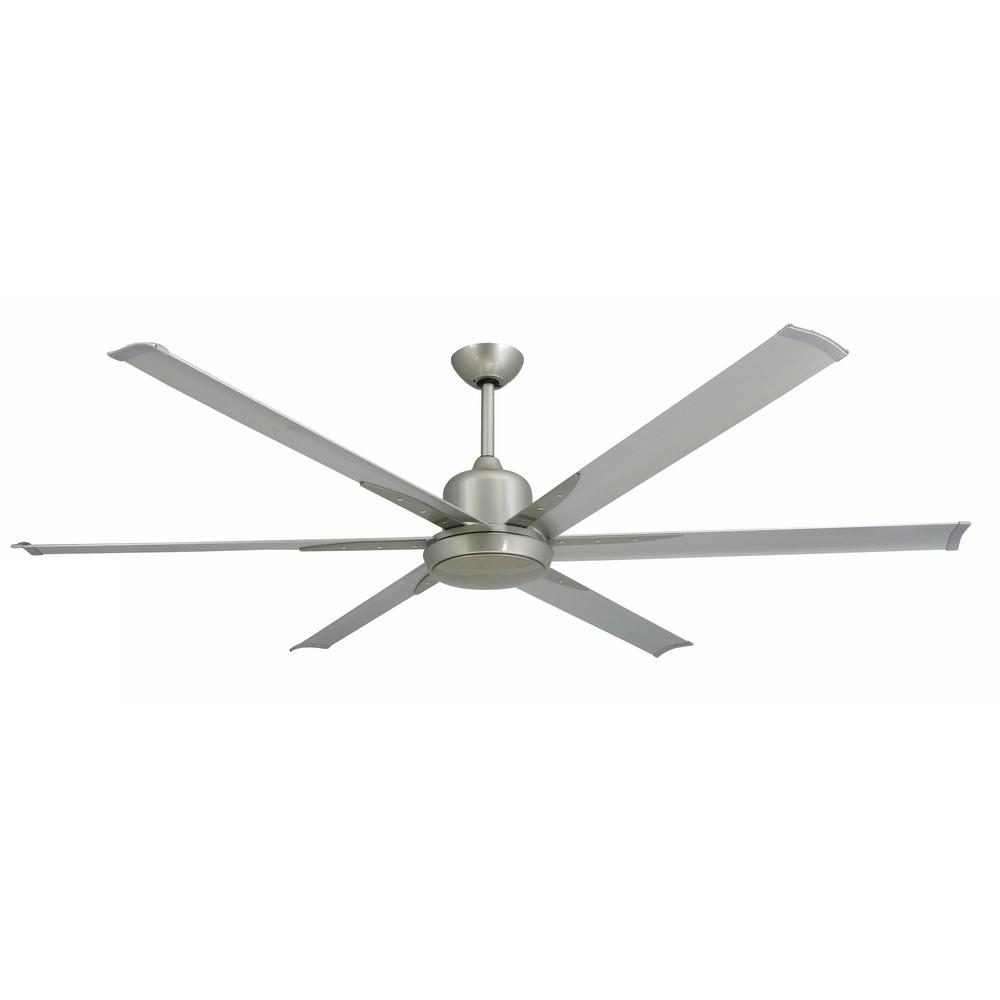Large Indoor Fans Troposair Titan 72 In Indoor Outdoor Brushed Nickel Ceiling Fan And Light