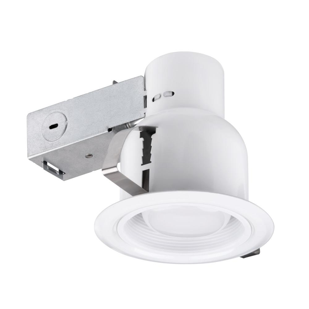 Recessed Lighting Globe Electric 4 In White Indoor Outdoor Recessed Lighting Kit