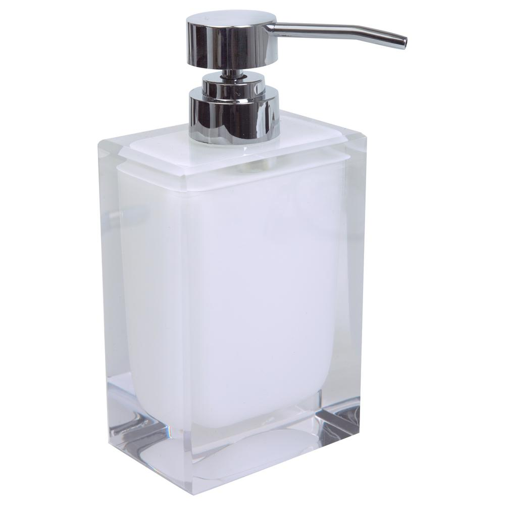 Unique Hand Soap Dispenser Bath Bliss Acrylic Square Hand Soap Pump In White By Bath Bliss