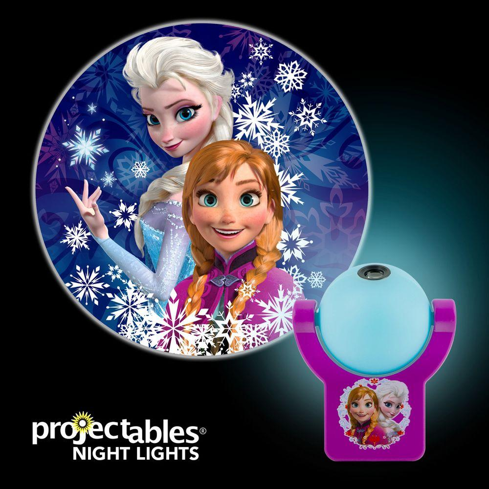 Girl Night Lights Projectables Disney Frozen Automatic Led Night Light