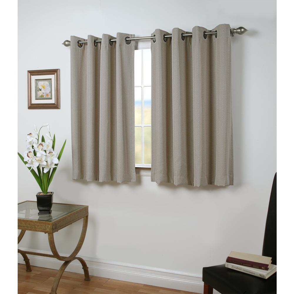45 Inch Blackout Curtains Ricardo Trading Grand Pointe 54 In W X 45 In L Polyester Blackout Short Length Window Panel In Smoke