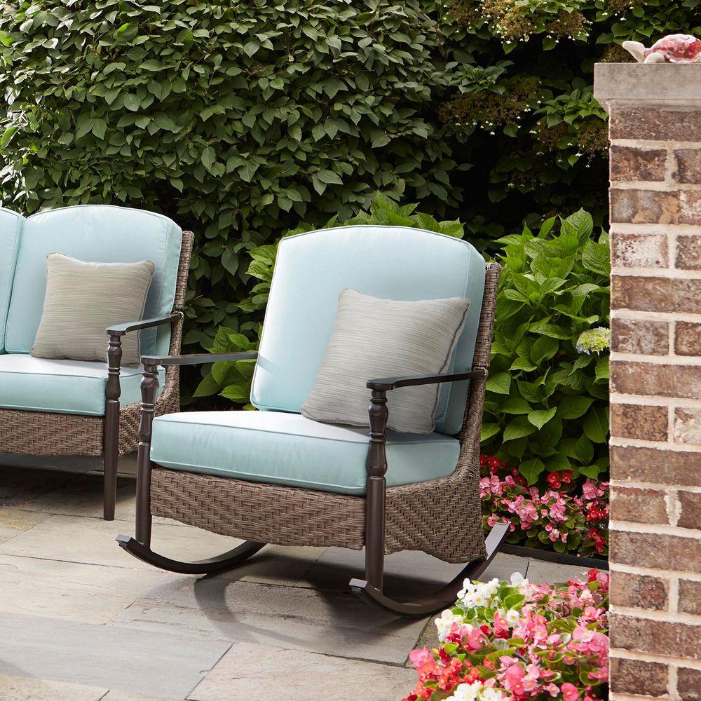 Discount Patio Chair Home Decorators Collection Bolingbrook Rocking Wicker Outdoor Patio Chair