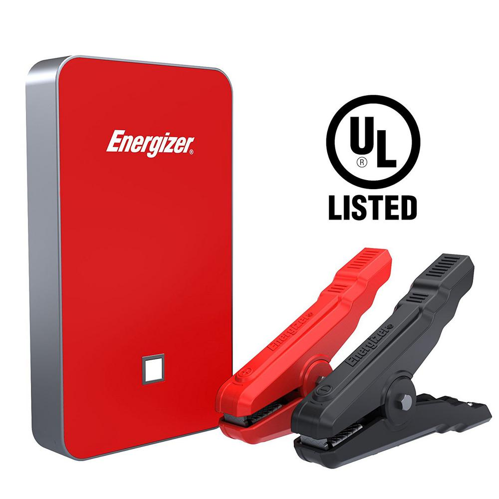 Bank Home Depot Energizer 7500mah Ul Listed Lithium Jump Starter 2 4 Amp Power Bank Usb Charger In Red