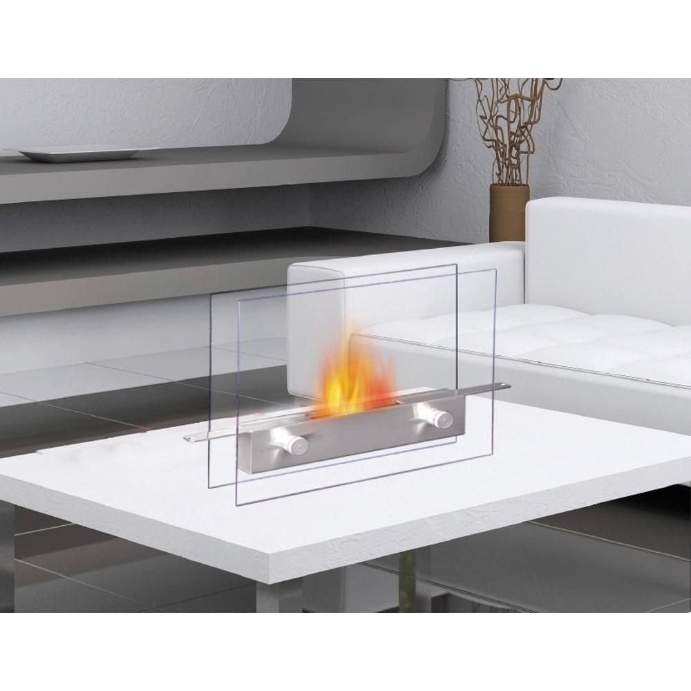 Ethanol Fireplaces Reviews Anywhere Fireplace 14 In Metropolitan Tabletop Vent Free Ethanol Fireplace In Stainless Steel Tempered Glass