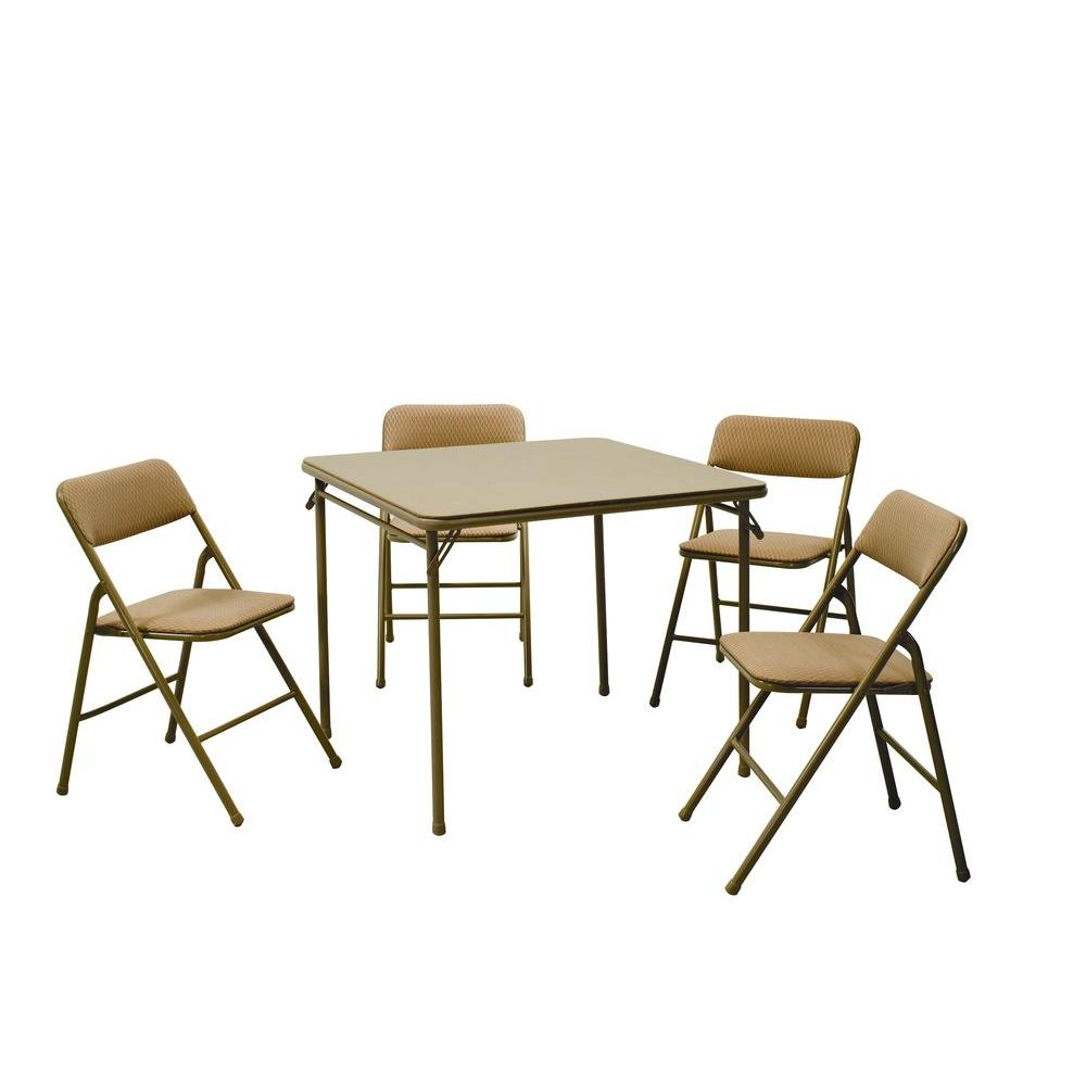 Folding Card Table Canada Cosco 5 Piece Beige Mist Portable Folding Card Table Set