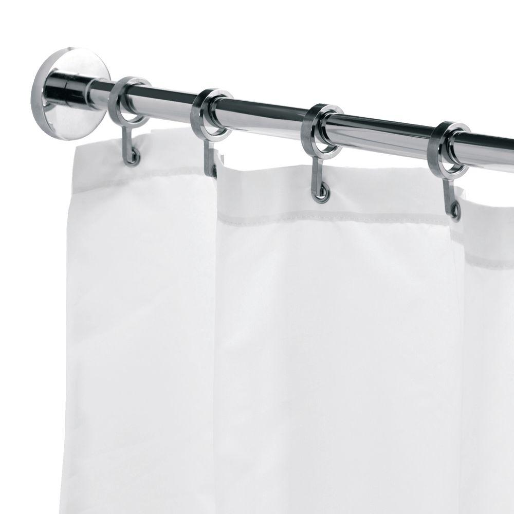 Telescopic L-shaped Shower Curtain Rod Croydex Round 98 4 In L Luxury Shower Curtain Rod With Curtain Hooks In Chrome