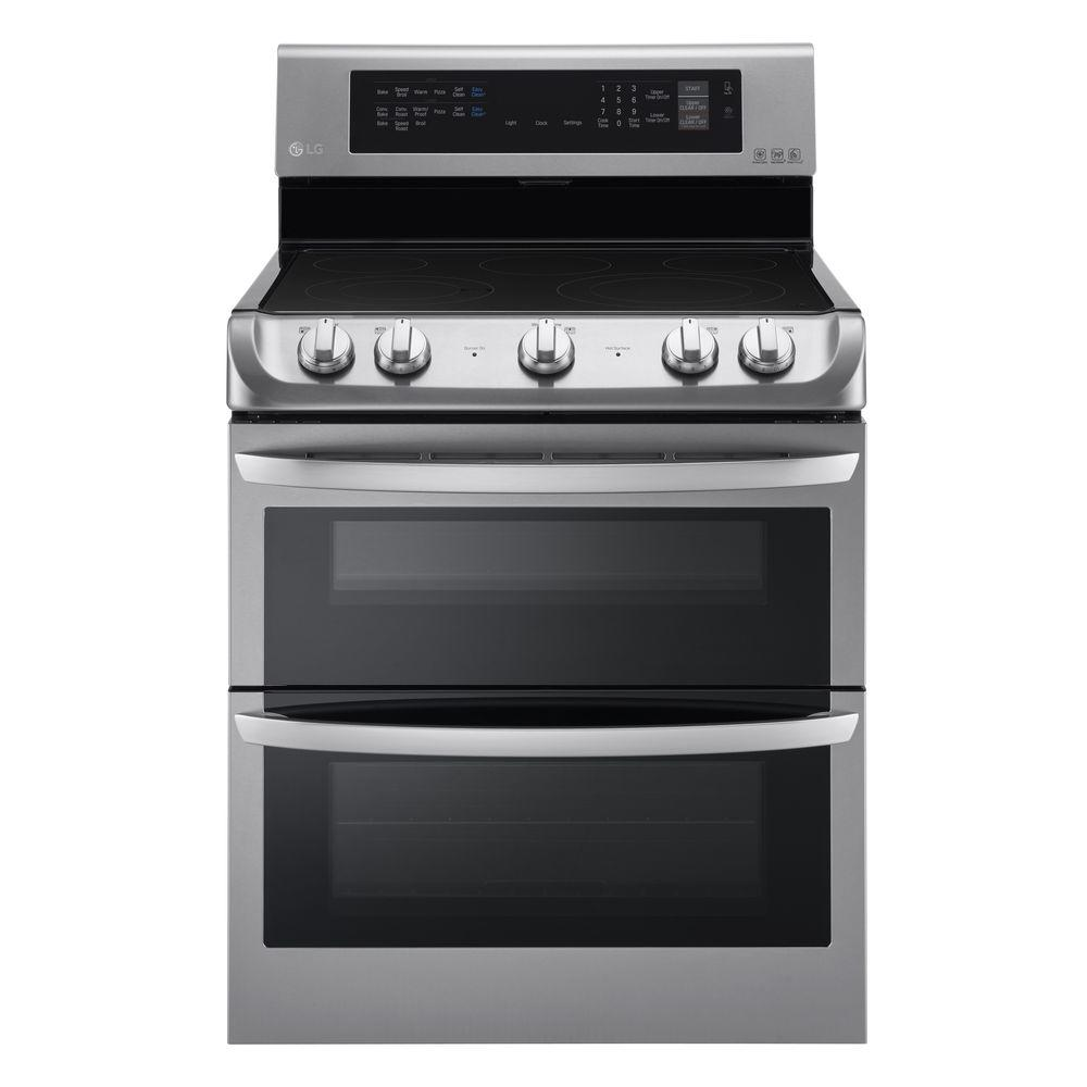 Electric Ovens For Sale 7 3 Cu Ft Double Oven Electric Range With Probake Convection Self Clean And Easyclean In Stainless Steel