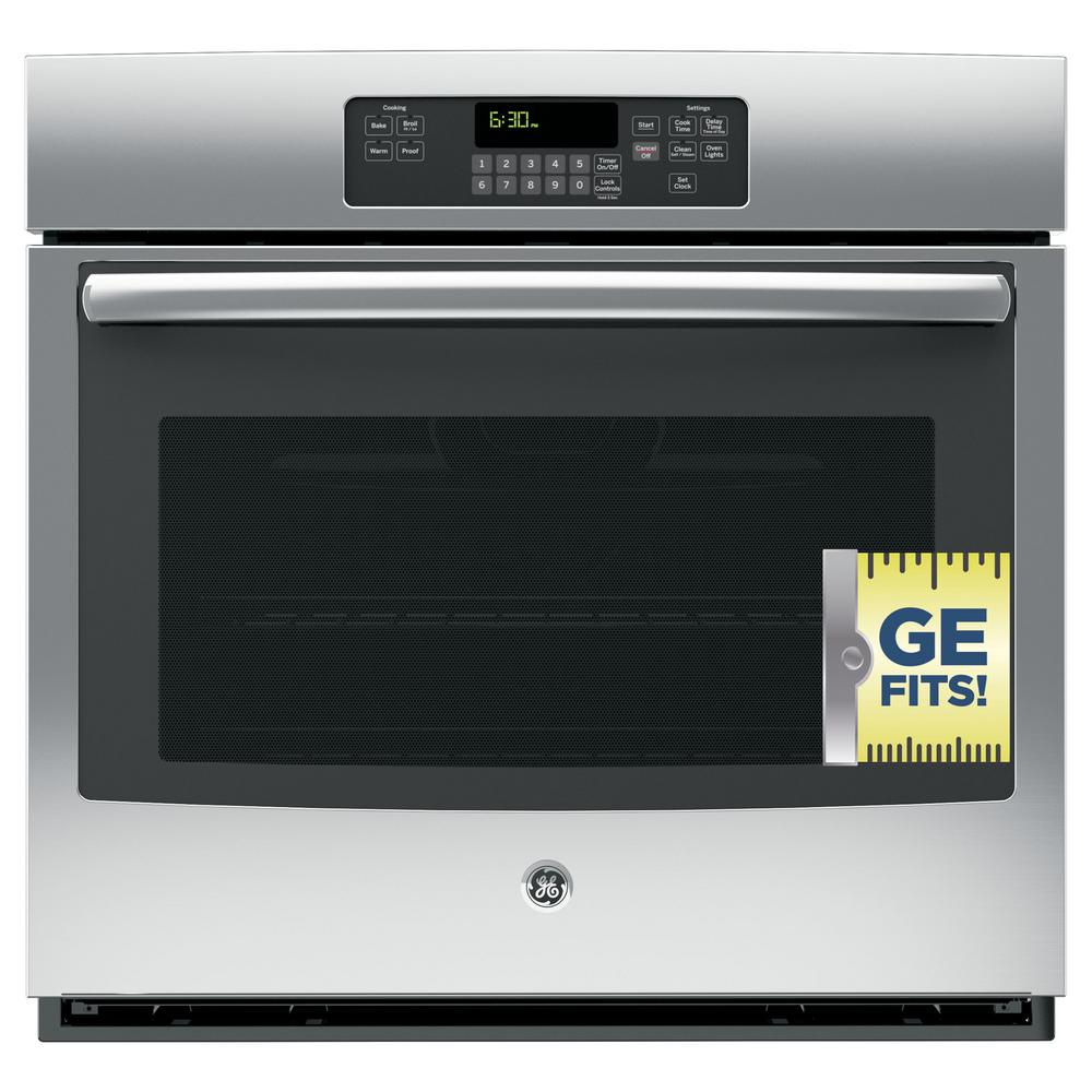 30 Wall Ovens Ge 30 In Single Electric Wall Oven Self Cleaning With Steam In Stainless Steel