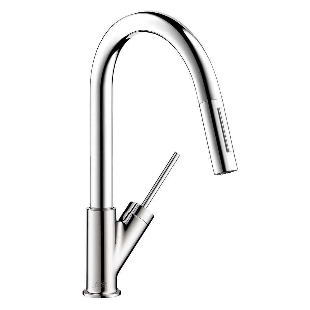 Axor Starck V Faucet Hansgrohe Axor Starck Prep Single Handle Pull Down Sprayer Kitchen Faucet In Chrome