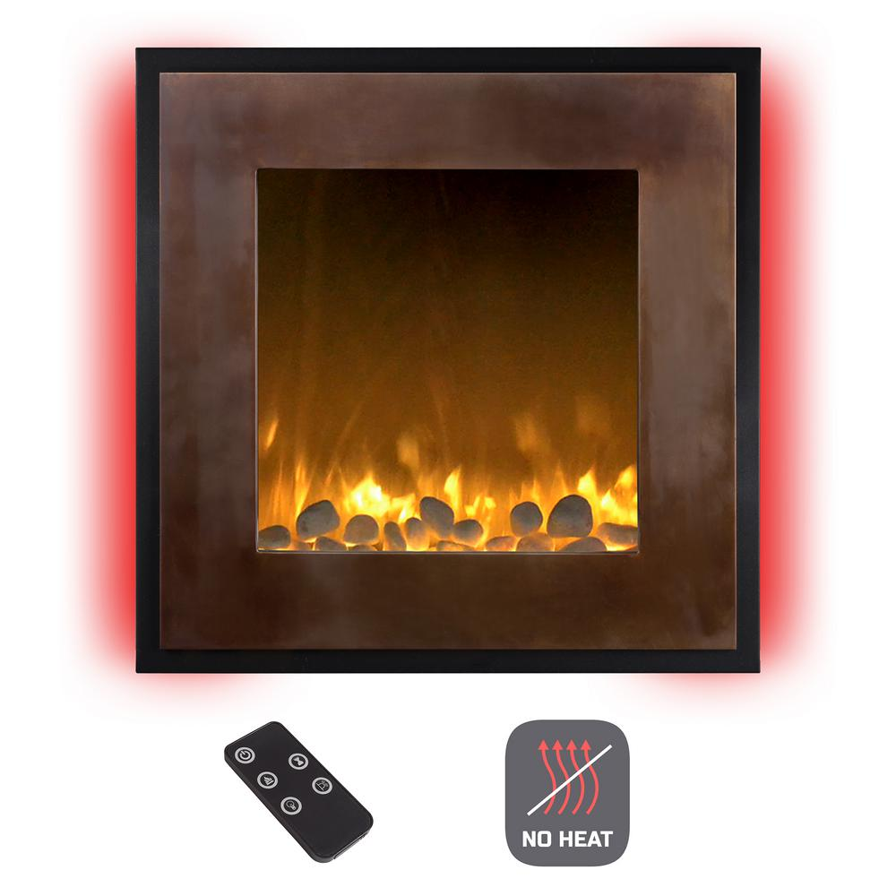Electric Fireplace Built Into Wall Northwest 24 In Wall Mount No Heat Electric Fireplace In Bronze Black