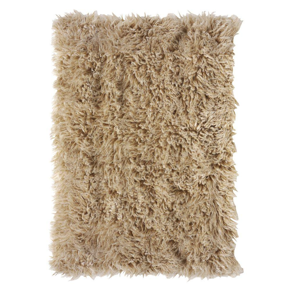 Depot Badematte Home Decorators Collection Premium Flokati Beige 6 Ft X 9 Ft Area Rug