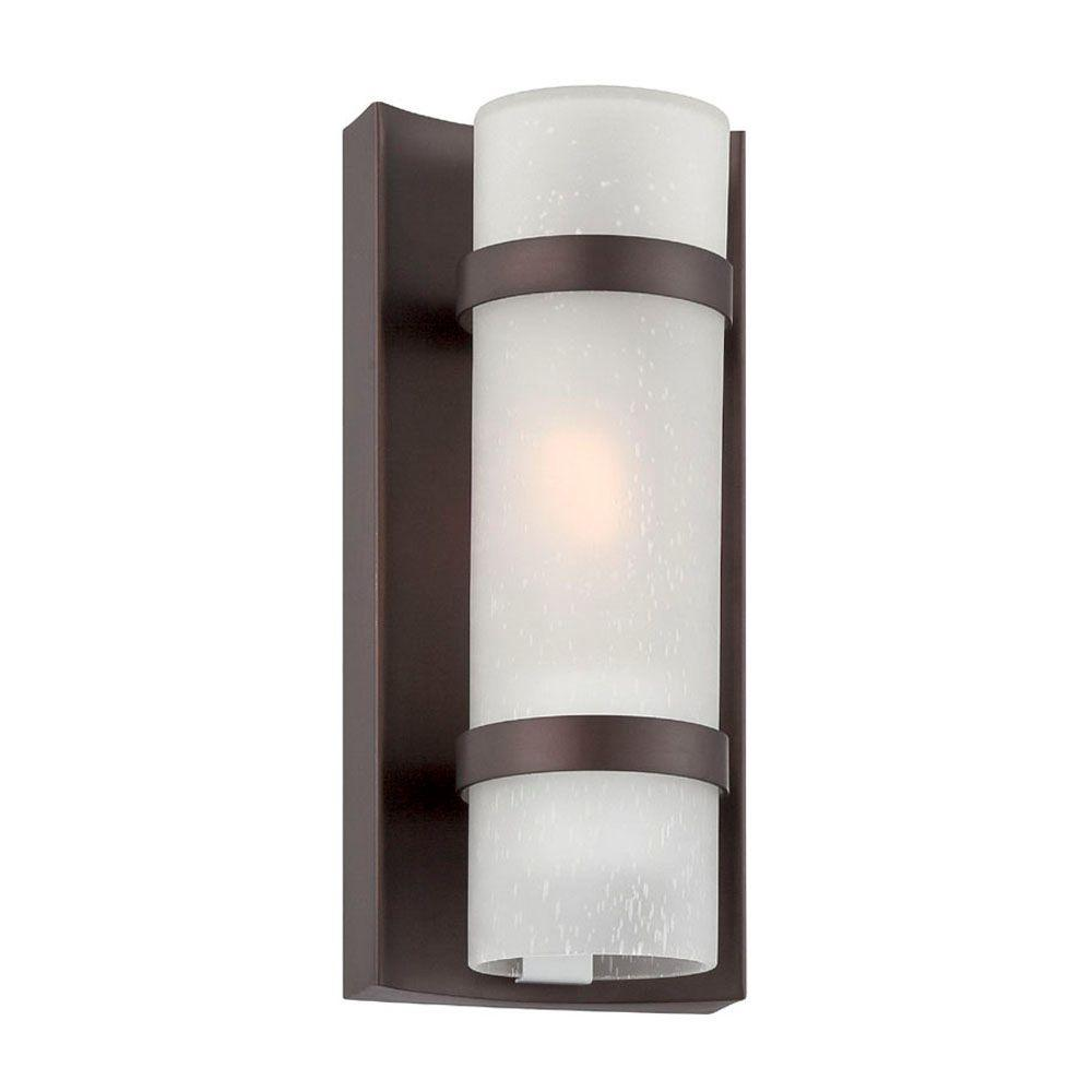 Lighting Fixtures Acclaim Lighting Apollo Collection 1 Light Architectural Bronze Outdoor Wall Mount Light Fixture