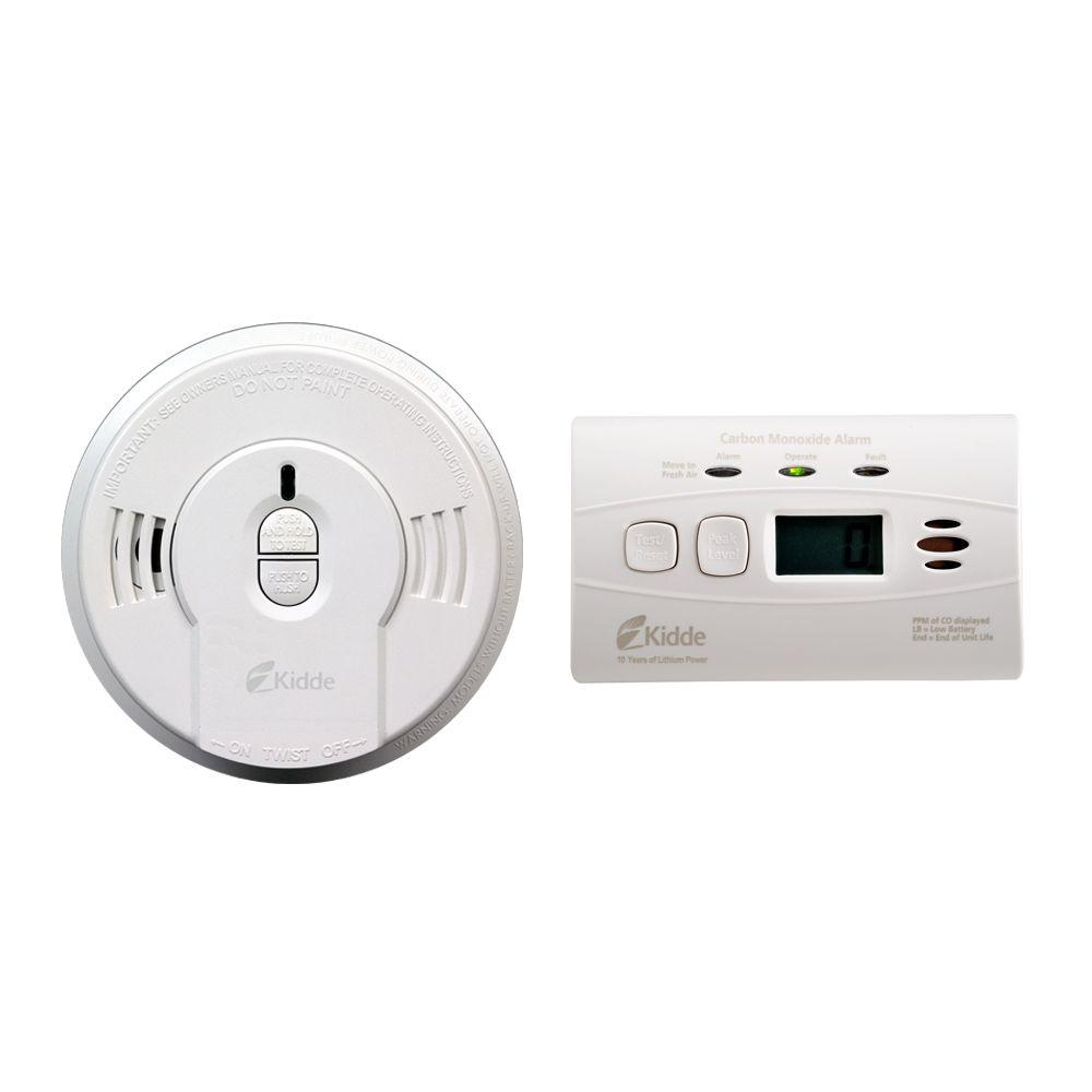 Battery Digital Kidde 10 Year Battery Operated Digital Combination Smoke And Co Alarm Bonus Pack