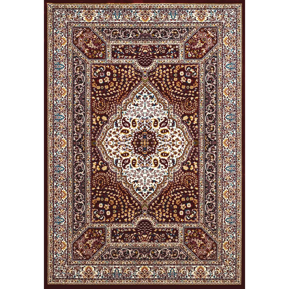 Decor Oriental Chic United Weavers Antiquities Qum Diamond Ruby 2 Ft 3 In X 7 Ft 2 In Area Rug