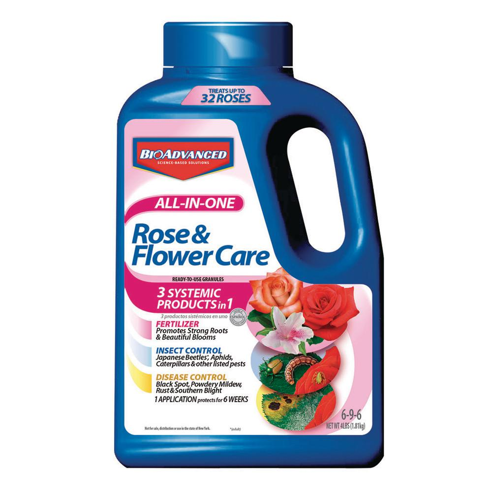 Granule Lg Bioadvanced 4 Lbs All In 1 Rose And Flower Care Granules