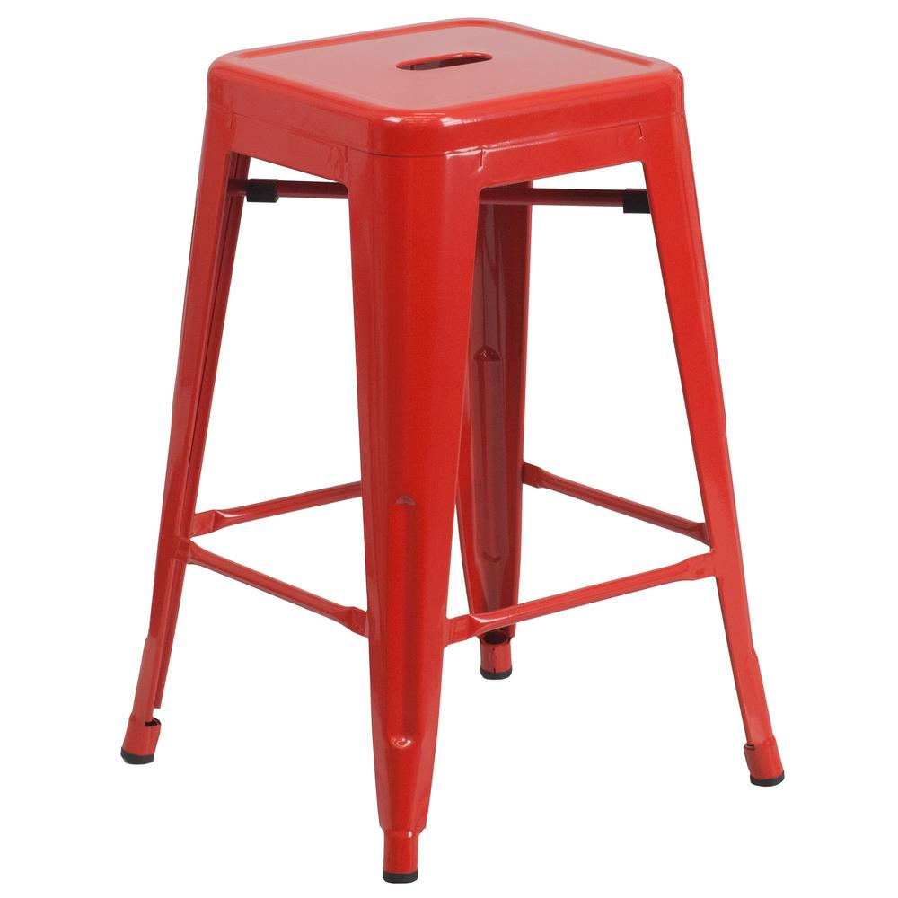 Bar Stools For Sale Flash Furniture 24 In Red Bar Stool Ch3132024red The Home Depot