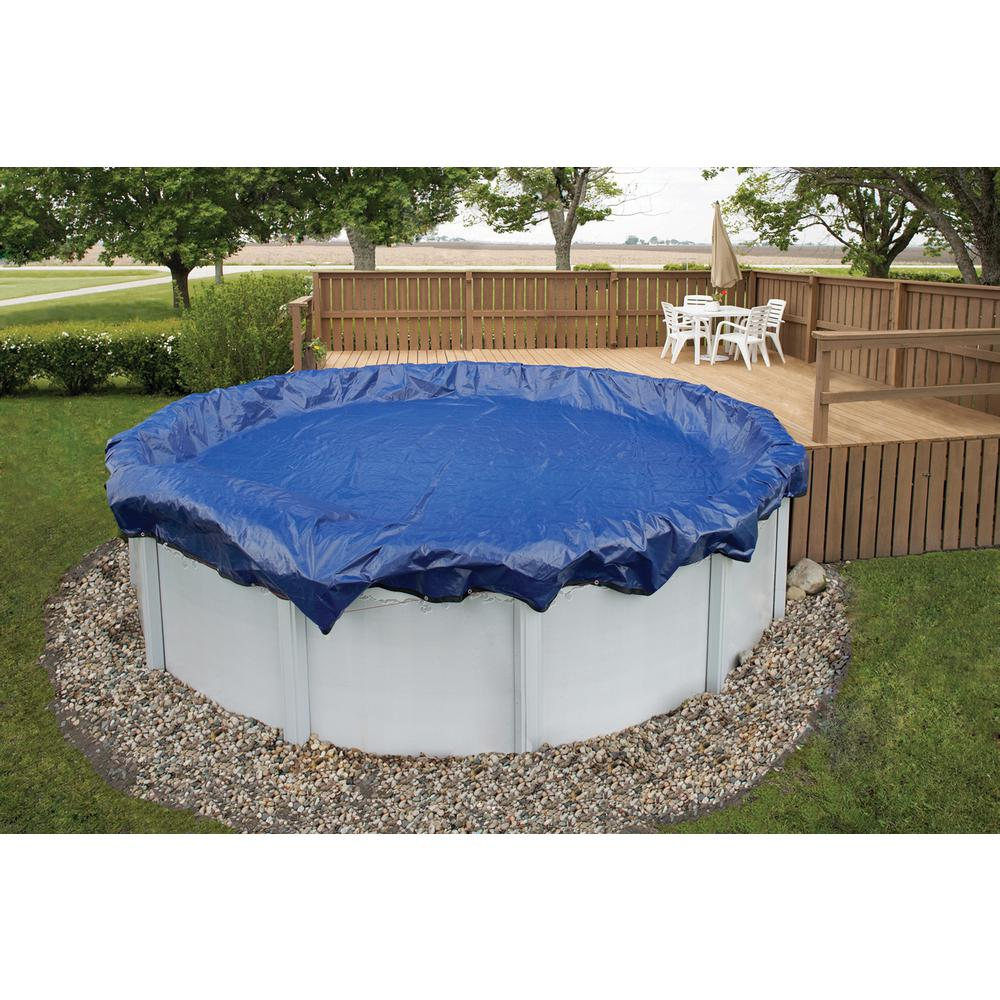 Above Ground Pool Winter Cover Blue Wave 15 Year 28 Ft Round Royal Blue Above Ground Winter Pool Cover